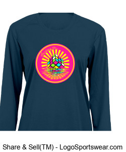Badger Ladies' B-Core Long Sleeve Tee Design Zoom