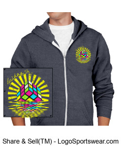 Alternative Unisex Rocky Eco-Fleece Zip Hoodie Design Zoom