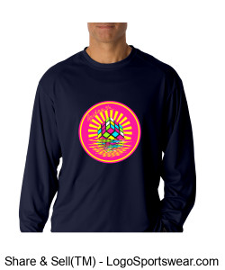 Badger Mens B-Core Long Sleeve  Performance Tee Design Zoom